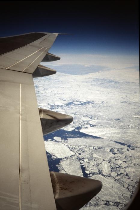 Über Grönland in Richtung …