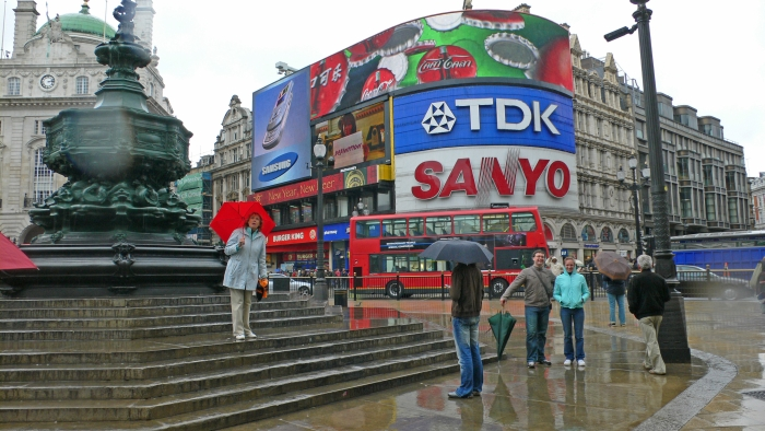 Der Piccadilly Circus …
