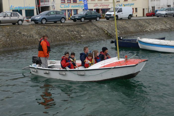 Auf dem Weg zu den Booten …
