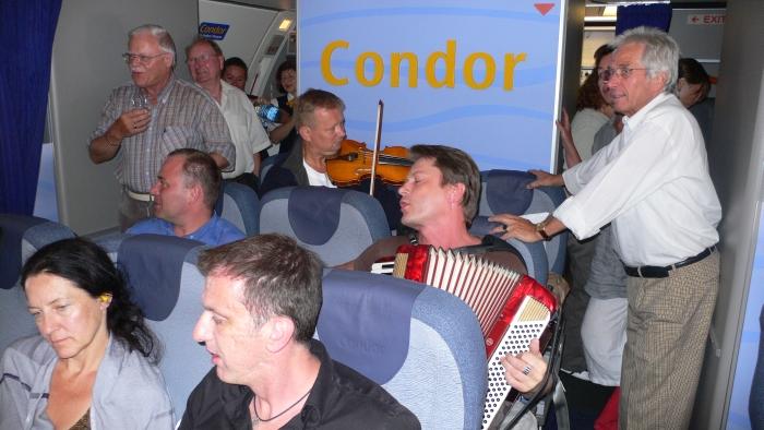 Sogar im Flugzeug …
