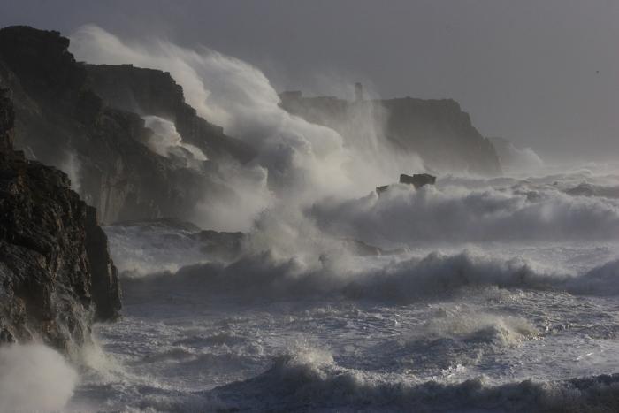 Der Strand im Sturm …