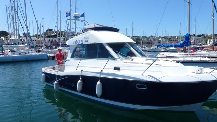 Mit dem Boot von Ute …