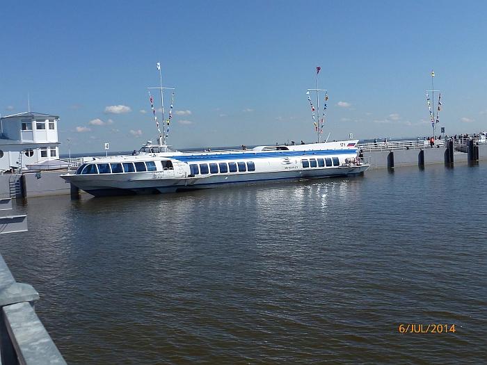 Mit dem Tragflächenboot …