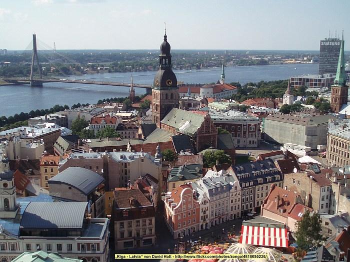 Die Altstadt von Riga am �